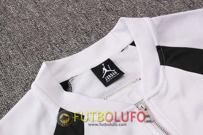 Nueva Chandal Futbol PSG Jordan Blanco Negro 2019 2020 Chaqueta + Pantalones