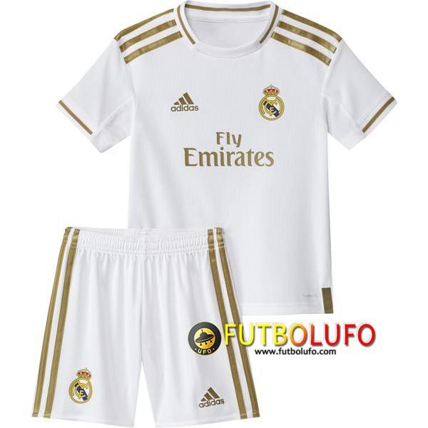 Nueva Camiseta Real Madrid Ninos Primera 2019 2020 Pantalones Cortos