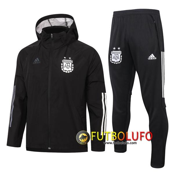 Nueva Chandal del Argentina Negro 2020 2021 Rompevientos + Pantalones